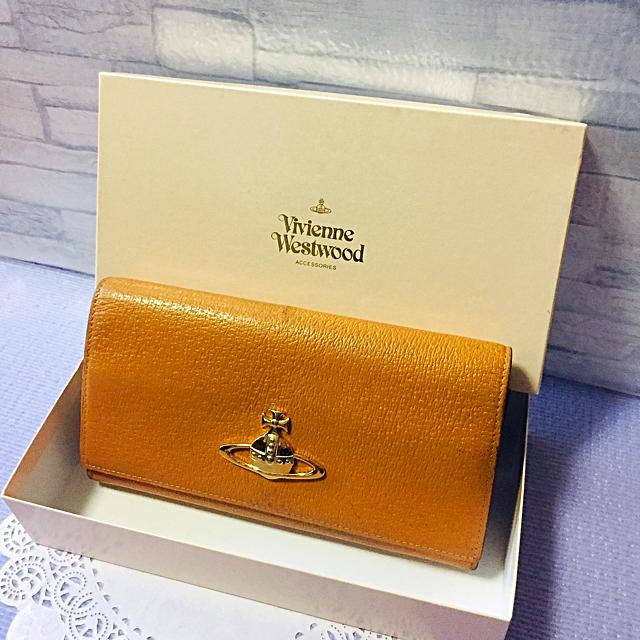 Vivienne Westwood(ヴィヴィアンウエストウッド)のヴィヴィアンウエストウッド  がま口 長財布☆キャメル レディースのファッション小物(財布)の商品写真