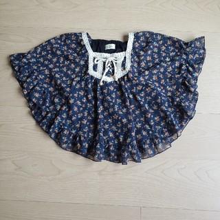 イッカ(ikka)のikka 花柄シフォンカットソー 130(Tシャツ/カットソー)