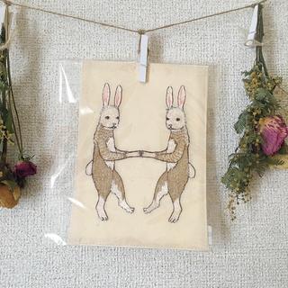 H.P.FRANCE - coral&tusk 刺繍カード