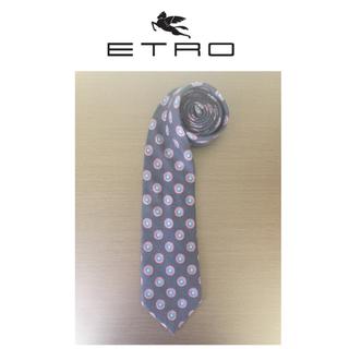 エトロ(ETRO)の良品★エトロ★ウール70%/シルク30%/ネクタイ/イタリア製/ネイビー系(ネクタイ)
