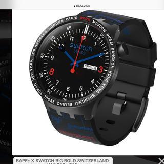 アベイシングエイプ(A BATHING APE)のBape x SWATCH スウォッチ 983本限定スイスBERNモデル(腕時計(アナログ))