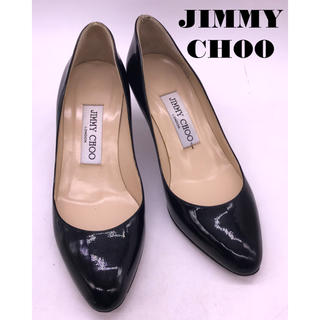 ジミーチュウ(JIMMY CHOO)の美品JIMMY CHOO エラメルパンプス(ハイヒール/パンプス)
