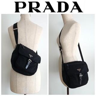 0fb4ea4cecf0 プラダ(PRADA)の正規 プラダ 斜め掛け ショルダーバッグ ナイロン ブラック レディース メンズ(