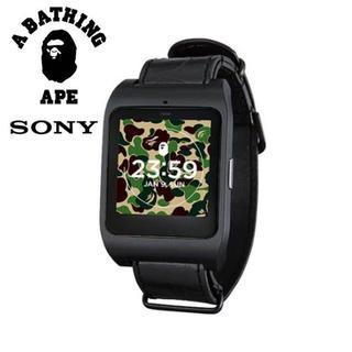 アベイシングエイプ(A BATHING APE)のA BATHING APE×SONY/SmartWatch3 本体+ベルト(腕時計(デジタル))