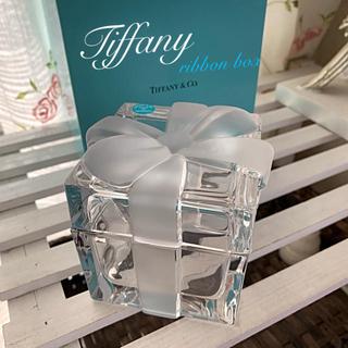 ティファニー(Tiffany & Co.)のティファニー👗廃盤レア✨クリスタルリボンボックス(小物入れ)