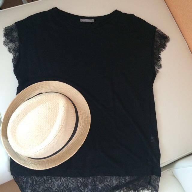 ZARA(ザラ)のZARA♡涼しげ 黒ver. レディースのトップス(シャツ/ブラウス(半袖/袖なし))の商品写真