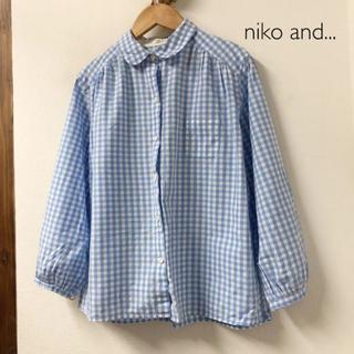 ニコアンド(niko and...)のniko and... ギンガムチェック ブラウス 丸襟(シャツ/ブラウス(長袖/七分))