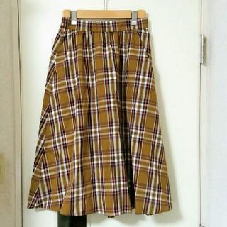ジーユー(GU)のジーユー チェックフレアスカート 新品未使用(ロングスカート)