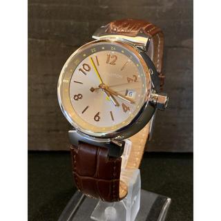 ルイヴィトン(LOUIS VUITTON)の【美品♪】ルイヴィトン タンブール GMT オーバーホール済!(腕時計(アナログ))