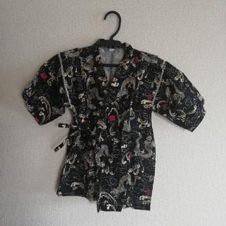 ニシマツヤ(西松屋)の美品♪甚平 130サイズ ドラゴン柄(甚平/浴衣)