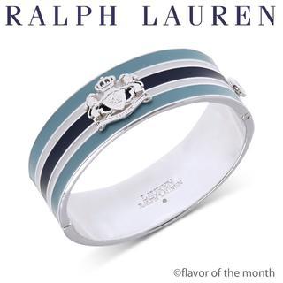 ラルフローレン(Ralph Lauren)のラルフローレン ティファニーブルートーンコンビが美しいクレスト(紋章)のバングル(ブレスレット/バングル)