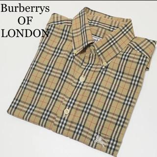 バーバリー(BURBERRY)のBurberry ノバチェック BDシャツ 半袖 ホースマーク(シャツ)