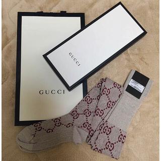 グッチ(Gucci)のGUCCI G柄 ロング・ニーハイ ラメソックス sizeM 新品未使用品(ソックス)
