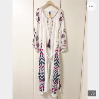 新品 刺繍ワンピース マキシワンピース 長袖 エンプロイダリー 2way (ロングワンピース/マキシワンピース)