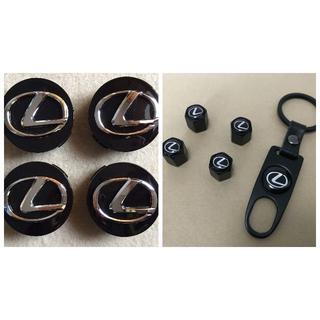 トヨタ(トヨタ)のレクサス ロゴ ホイールセンターキャップ(外径62mm)&エアバルブキャップ(ホイール)