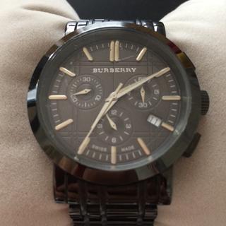 バーバリー(BURBERRY)の正規品バーバリーメンズウオッチガンメタクロノグラフ(腕時計(アナログ))