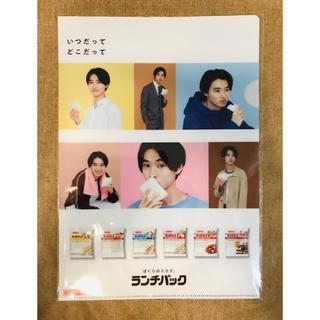 ヤマザキセイパン(山崎製パン)の新品・ランチパック山崎賢人クリアファイル(男性タレント)