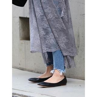 アングリッド(Ungrid)のungrid  フェイクレザー フラットシューズ  Lサイズ(ローファー/革靴)