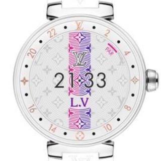 ルイヴィトン(LOUIS VUITTON)の超美品 タンブール   ホライゾン V2 ピュア ホワイト 42 (腕時計(デジタル))