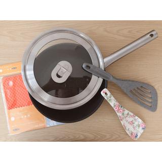 イケア(IKEA)のIKEAのフライパン フライ返し 鍋敷き セット(鍋/フライパン)