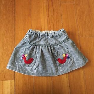 プチジャム(Petit jam)のプチジャム  PetitJam  小鳥さん刺繍入り♪スカート 90  100(スカート)