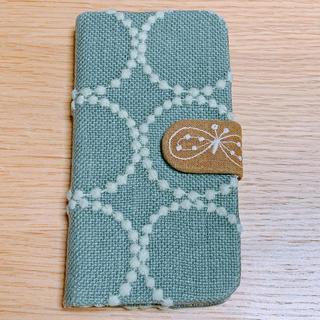 ミナペルホネン(mina perhonen)のミナペルホネン iPhone X Xs スマホケース 手帳型 ハンドメイド(iPhoneケース)