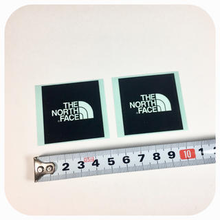 ザノースフェイス(THE NORTH FACE)のノースフェイス ミニロゴ ステッカー 2点 ☆ 黒!!!!(その他)