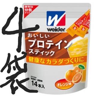モリナガセイカ(森永製菓)の4袋おいしいプロテインスティック 14本(1本10g)×4袋(プロテイン)