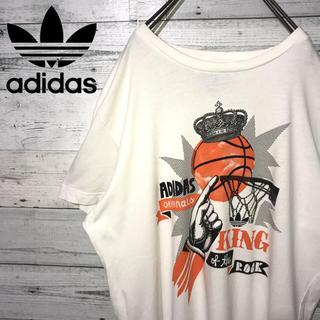 アディダス(adidas)の【レア】アディダスオリジナルス☆ビッグロゴ バスケ ビッグサイズ Tシャツ(Tシャツ/カットソー(半袖/袖なし))