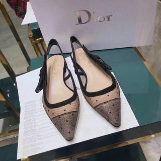 ディオール(Dior)の2019 夏 Dior フラットシューズ 新しいローヒールシューズ 美品 38(フラットシューズ)