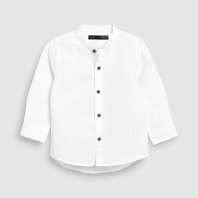 NEXT(ネクスト)の新品!ネクスト リネン混シャツ◇ブルー キッズ/ベビー/マタニティのベビー服(~85cm)(シャツ/カットソー)の商品写真