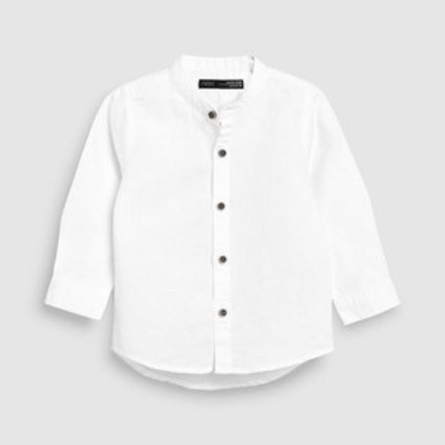 NEXT(ネクスト)の新品!ネクスト リネン混シャツ◇ホワイト キッズ/ベビー/マタニティのベビー服(~85cm)(シャツ/カットソー)の商品写真