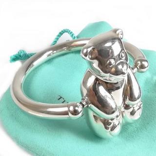 ティファニー(Tiffany & Co.)の希少 美品 ティファニー ベア シルバー ラトル ガラガラ QQ2(がらがら/ラトル)