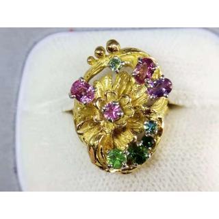 [岩倉康二]Pt900/K18マルチカラー デザインリング 指輪(リング(指輪))