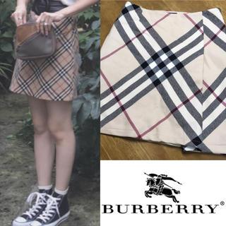 バーバリー(BURBERRY)のBurberry London バーバリー ノバチェック スカート (ひざ丈スカート)
