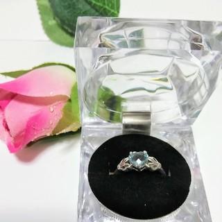 ブルートパーズ シルバーリング 15号 11月誕生石 天然石 (リング(指輪))