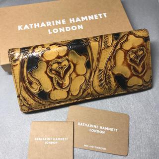 bbbbacb25224 キャサリンハムネット(KATHARINE HAMNETT)のキャサリンハムネット 型押し長財布 箱
