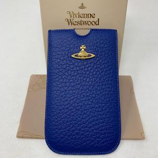 ヴィヴィアンウエストウッド(Vivienne Westwood)の未使用☺︎Vivienne Westwood  iPhoneケース スマホ 青(iPhoneケース)