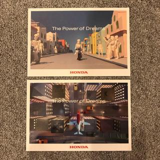 ホンダ(ホンダ)の新品未使用☆非売品!HONDA ORIGAMI ポストカード 2枚セット(ノベルティグッズ)