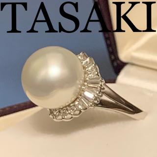 タサキ(TASAKI)のタサキ 13.3mmパール ダイヤ プラチナリング 保証書付(リング(指輪))