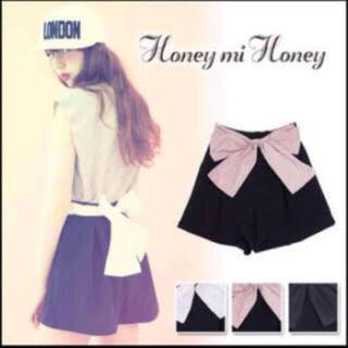 ハニーミーハニー(Honey mi Honey)のHoney mi Honey ❤︎ リボンショートパンツ(ショートパンツ)