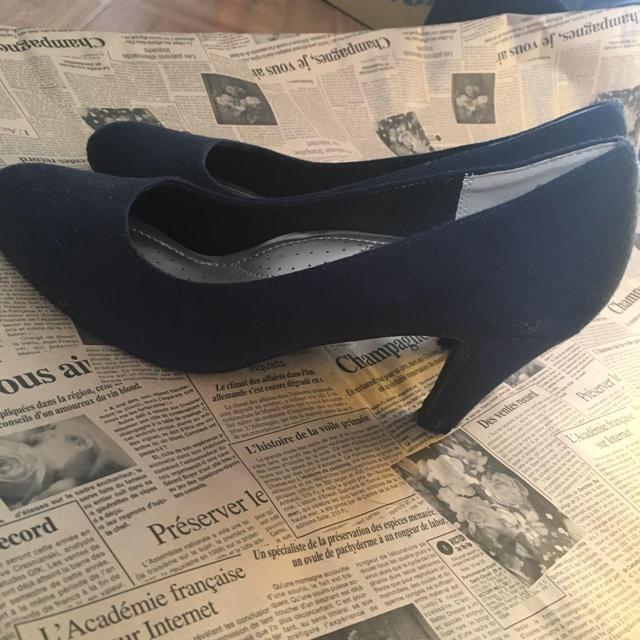 しまむら(シマムラ)のパンプス ネイビー3Lサイズ レディースの靴/シューズ(ハイヒール/パンプス)の商品写真