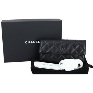 c60d07a02d5d シャネル(CHANEL)のシャネル 二つ折り長財布 マトラッセ CC ココマーク ラムスキン(
