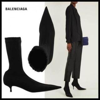 バレンシアガ(Balenciaga)の新品 バレンシアガ ナイフ ブラック 定価127,440円 箱なし(ハイヒール/パンプス)
