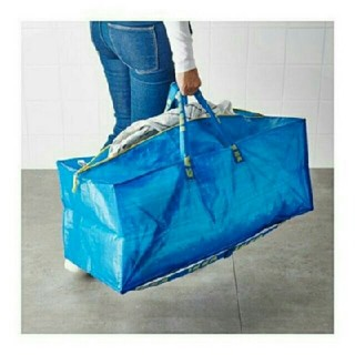 イケア(IKEA)のトロリー用エコバッグFRAKTA ブルー1枚 (エコバッグ)