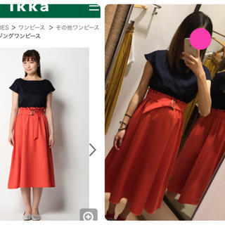 イッカ(ikka)のIKKA ワンピース オレンジ(ひざ丈ワンピース)
