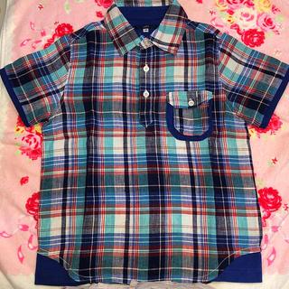 シップス(SHIPS)のSHIPS 麻の半袖シャツ 120 美品(Tシャツ/カットソー)