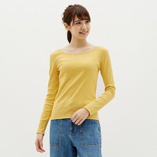 ジーユー(GU)のGU リブバレエネックT(Tシャツ(長袖/七分))