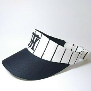 ハンシンタイガース(阪神タイガース)の阪神タイガース  帽子  サンバイザー  白黒+ピンク黒  2個セット  専用(応援グッズ)