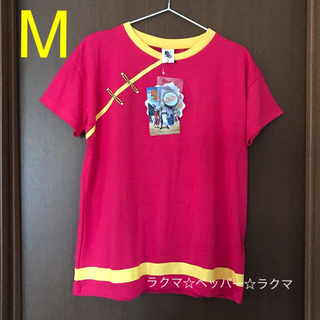 バンダイ(BANDAI)の銀魂 神楽 tシャツ M 缶バッジ付き(Tシャツ(半袖/袖なし))